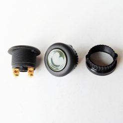 Кнопка стартерная серая с черной окантовкой без фиксации