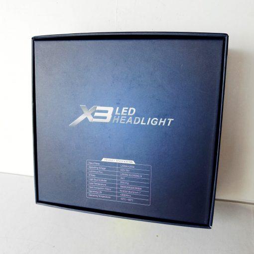 Светодиодная лампа LED AllLight X3 H7 50W 5000K 6000lm с светофильтрами (3000K/8000K)