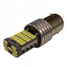 светодиод T25 45smd 3014 драйвер обманка 650Lm BA15s CANBUS 12v