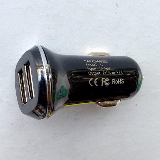 Авто зарядка HOCO Z1 2USB 2.1A белый, черный