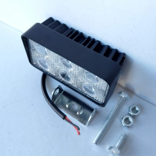 Светодиодная фара AlLlight 09type 18W 6chip Osram 3535 spot (тонкий радиатор)