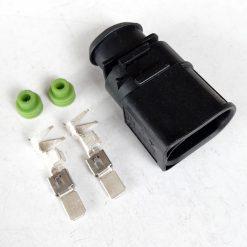 Разъем AUDI Volksvagen 1J0973852 (под провод 4кв.мм) 2 pin 6,3mm GERMANY