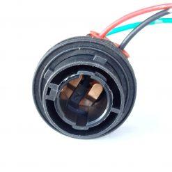 Патрон под лампу Р21/5W (BAY15d) с 4-мя зацепами герметичный пластик (медь)