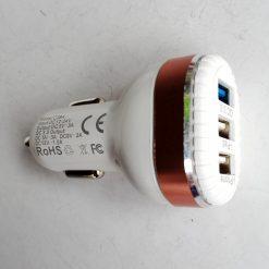 Авто зарядка Konfulon C28A 3USB 3A Quick Charge 3.0 White