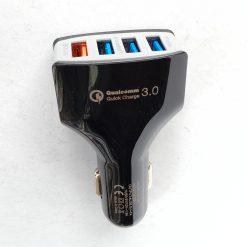 Автомобильный адаптер LZ-KC08, 4 порта USB, QC3,0 +5V(2,1А+1A) 12-24V