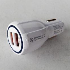 Автомобильный адаптер SY 681, 2 порта USB, QC3,0 +5V(3,1А) 12-24V