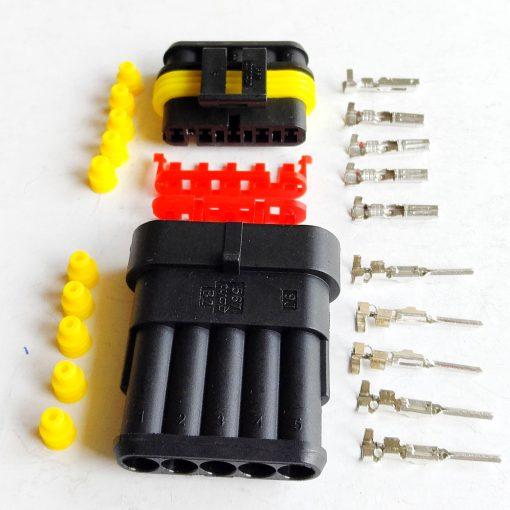 Разъем герметичный на 5 контактов без провода (к-т)