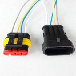 Разъем герметичный на 4 контакта с проводом (к-т)