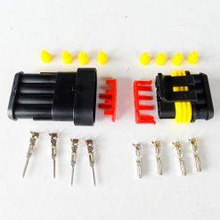 Разъем герметичный на 4 контактов без провода (к-т)
