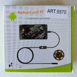 Эндоскоп камера диаметром 7мм с подсветкой для смартфонов и ПК