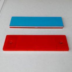 Катафот светоотражающий красный прямоугольный