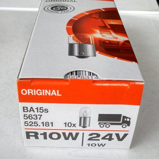Osram 5637 R10W 24v BA15s