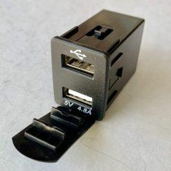 Авто зарядка - кнопка Nissan c 2 USB 4,8A 12V