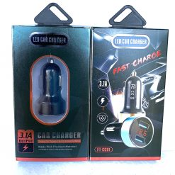 Авто зарядка FAST CHARGE FT-CC01 2USB 5V(2,1A+1A) + вольтметр 12-24в