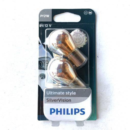 Philips 12496SVB2 PY21W SilverVision 12v BAU15s