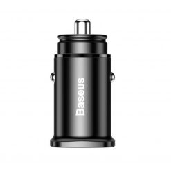 Авто зарядка BASEUS Circular Plastic PPS PDout/USB 30W/QC4.0/PD3.0 Black