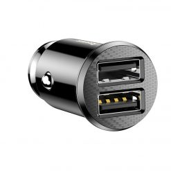 Авто зарядка BASEUS Grain Car Charger 2USB 3,1A Black