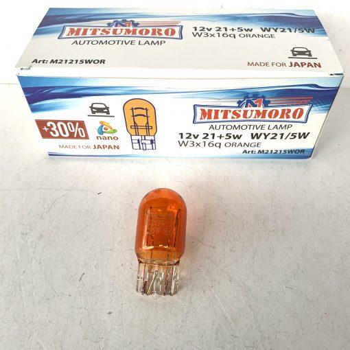 MITSUMORO WY21/5W 12V 21+5W W3x16g ORANGE