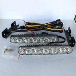 ходовые огни DRL 11 X 33 - 2 с бегущим поворотом 6 диодов 1w