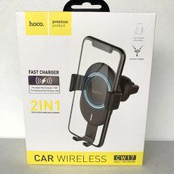 Держатель телефона HOCO CW17 с беспроводной зарядкой