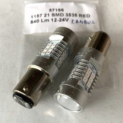 светодиод T25 21smd 3535 RED CANBUS 12-24v BAY15d , драйвер обманка 840/240Lm