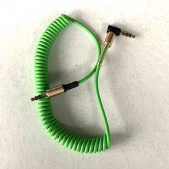 Кабель аудио AUX 3.5mm Jack - Jack угол 90 град пружина 1,5м