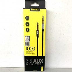 Кабель аудио AUX L REMAX Jack (3,5mm) 1m Black