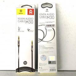 Кабель аудио AUX Baseus Yiven M30 1,5m Black-silver