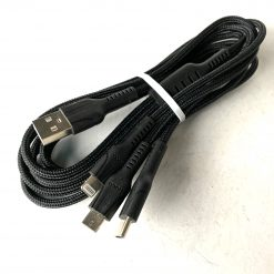 Кабель HOCO U31 Benay Combo 3-in-1(L-M-Tc) Cable 2,4A/1m. Black
