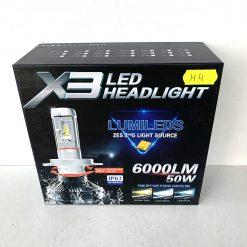 LED AllLight X3 H4 50W 5000K 6000lm с светофильтрами (3000K/8000K)