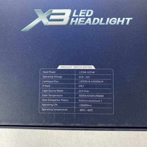 LED AllLight X3 H1 50W 5000K 6000lm