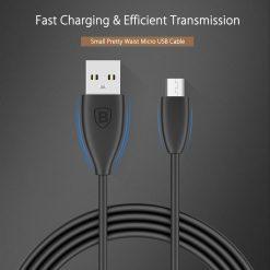 USB кабель Baseus Small Pretty Waist Cable for Micro 2A/1m. Black