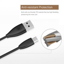 USB кабель Baseus Small Pretty Waist Cable for Micro 2A/1m. Black