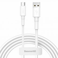 USB кабель Baseus Mini White Micro USB Cable 2.4A (1m) white