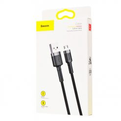 USB кабель Baseus Cafule Micro USB Cable 2.4A (1m) gray_black