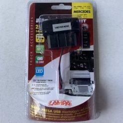 Авто зарядка - кнопка MERCEDES c 2 USB 3A 12-24V