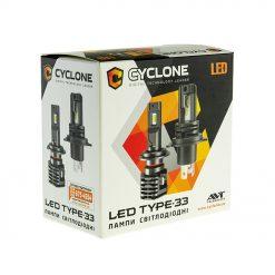 Комплект LED ламп CYCLON type 33 H11 12W 4800Lm 5000K 9-16v