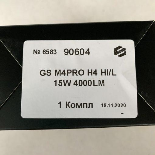 Комплект LED ламп GLOBAL SOLUTION M4PRO H4 H/L 6500K 4000Lm 15W 9-32v