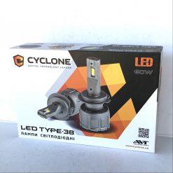 Комплект LED ламп CYCLON TYPE-38 H7 60W 14000Lm 6000K 9-16v
