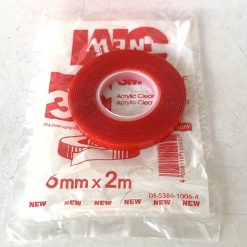 Скотч двухсторонний 3M 6009F 6мм*2м*0,8мм прозрачный. Made in Germany