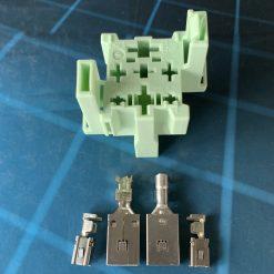 AUDI VW 4H0937528 Разъём (без провода) 4 pin для реле 70A оригинал