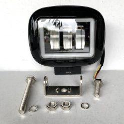 Фара светодиодная 88ВC 45W PREMIUM ближний свет + диодный обод белого цвета прямоугольная