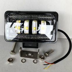 Фара светодиодная 04-60 60W 4 линзы ближний свет + ходовые огни прямоугольная