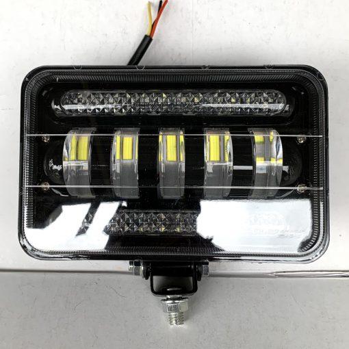 Фара светодиодная 01-75 75W 5 линз ближний свет + ходовые огни прямоугольная