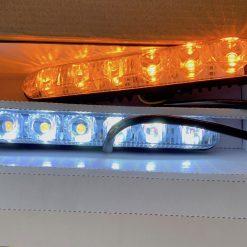 ходовые огни DRL 616-2 CYCLONE 12 диодов 1.5w с поворотом