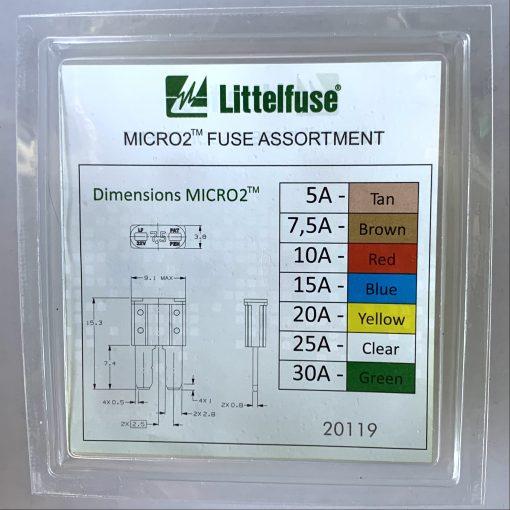 Littelfuse MICRO2 fuse assortment набор предохранителей 10 шт оригинал